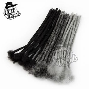 loc extensions three mix colors grey and natural black