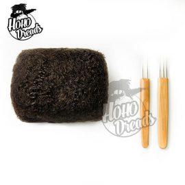100 afro kinky bulk human hair