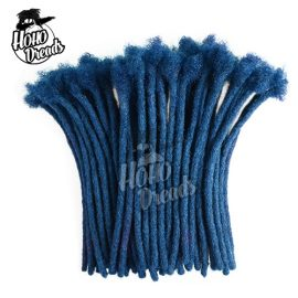Dreadlock extensions human hair blue
