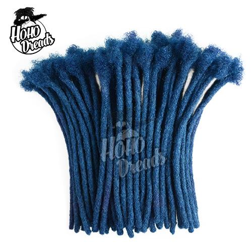dreadlock extensions human hair blue