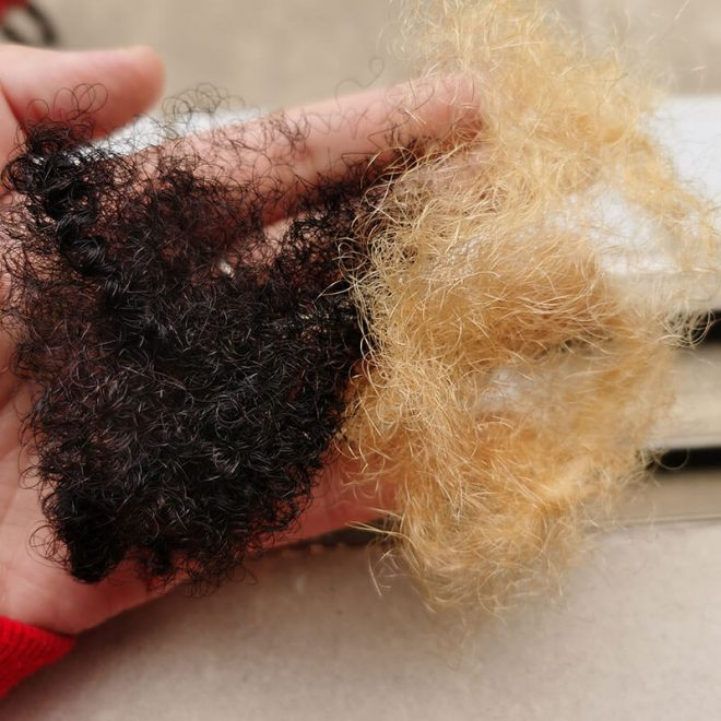 tight afro kinky bulk human hair