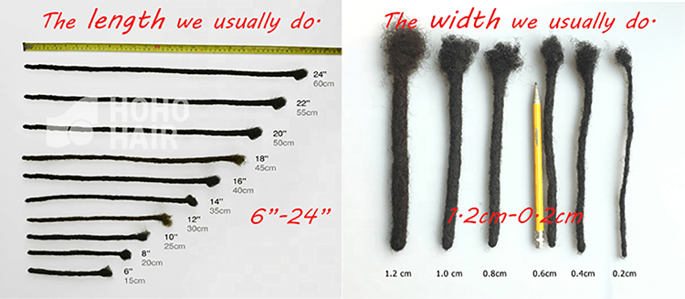 dreadlock size hohodreads
