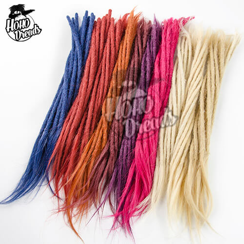 straight hair dreads colorful