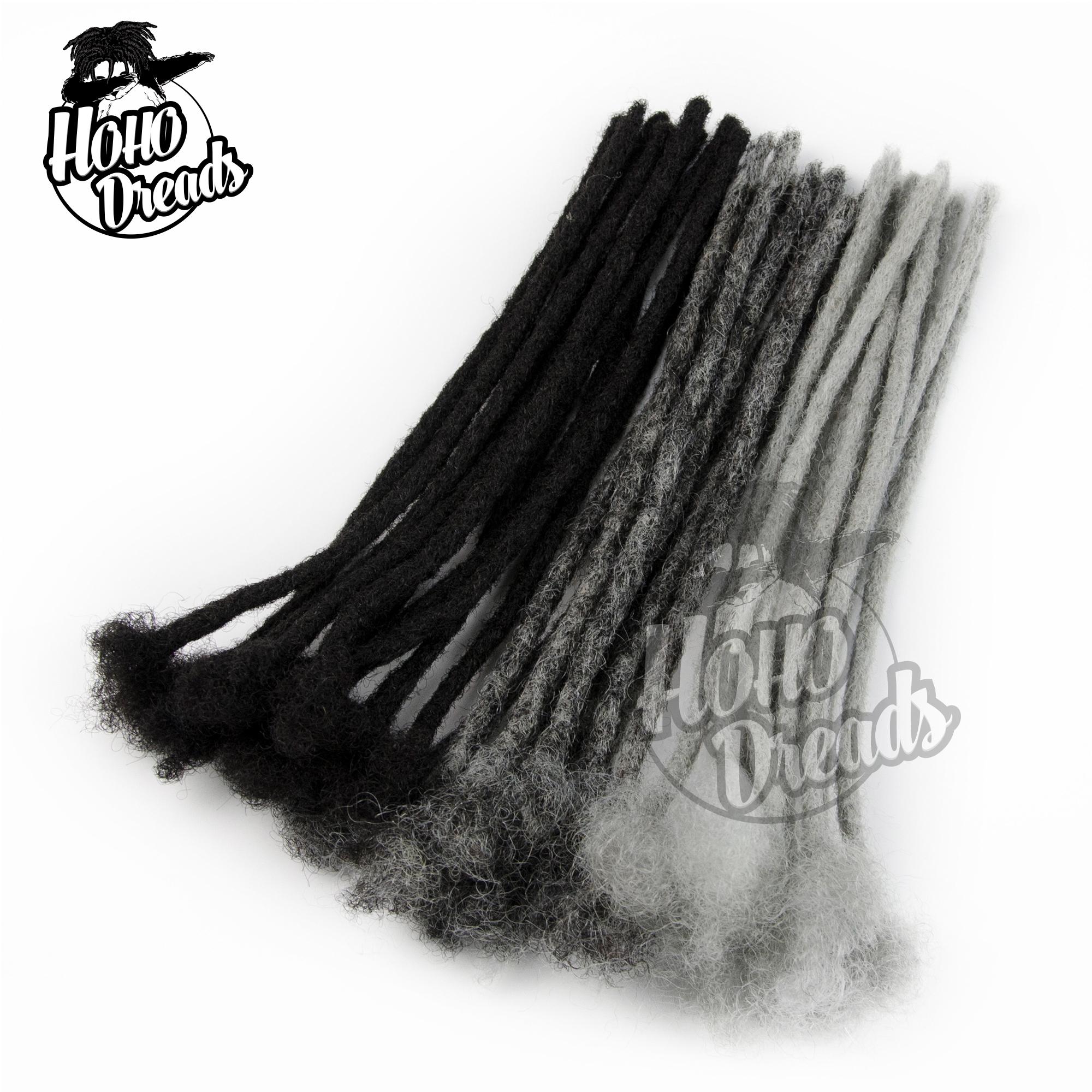 Human kinky hair loc extensions