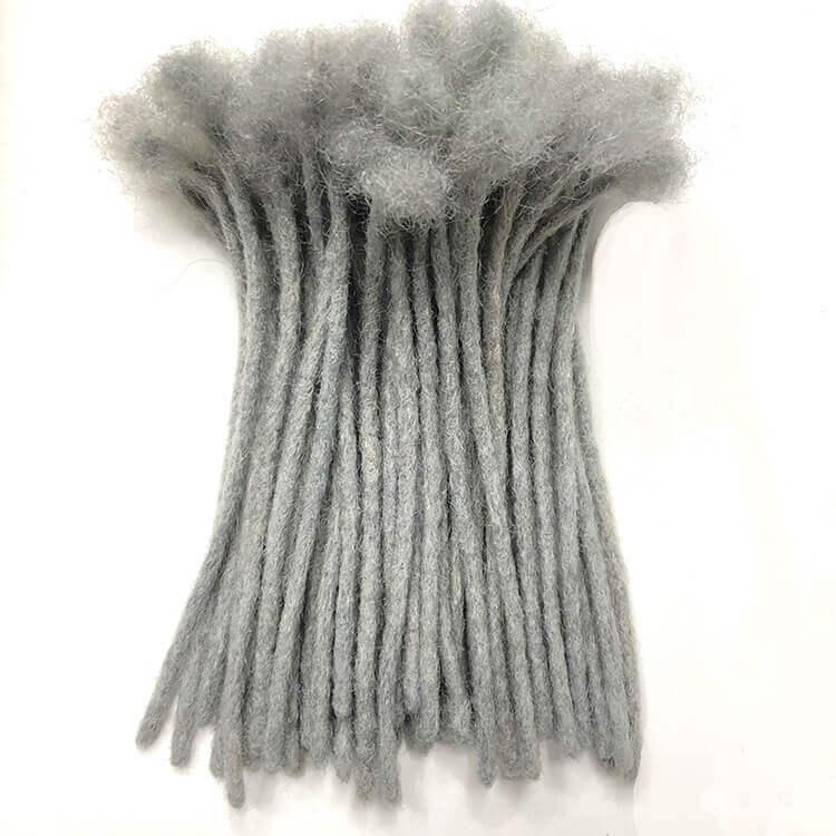 natural grey dreadlocks